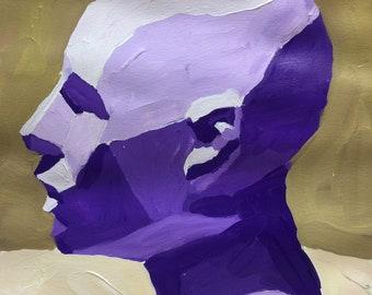 "1""Purple People Eater"" Original Acrylic Painting 9"" x 12"""