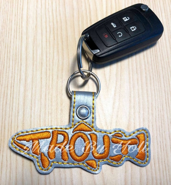 Embroidery Design Digitized Trout Keychain 4 x 4  e89632a65