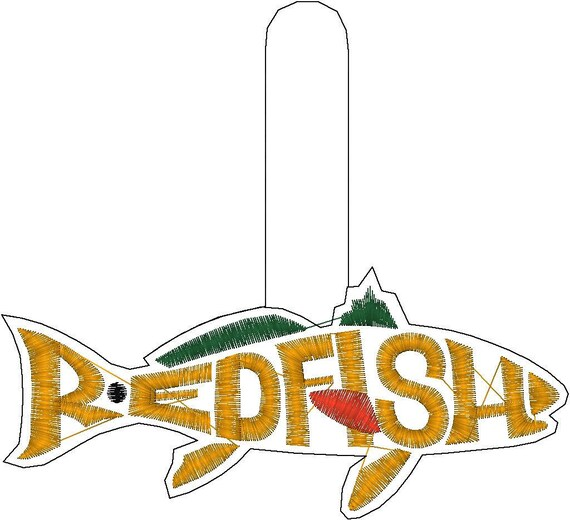 Redfish Leather Keychain