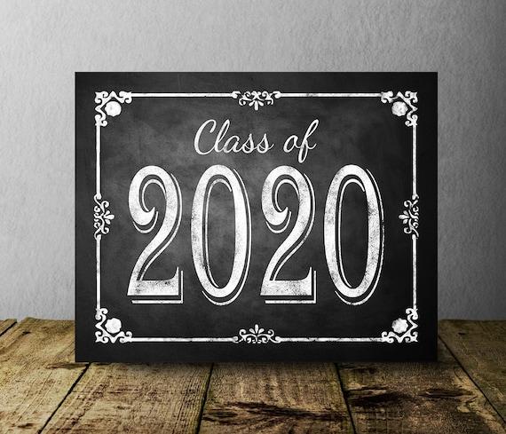 Graduation Party 2020.Class Of 2020 Chalkboard Graduation Sign Printable Digital Graduation Party Sign Congrats Class Of 2020 Graduation Party Decorations Diy