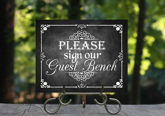Bitte melden Sie sich unser Gast Bank druckbare Tafel | Etsy