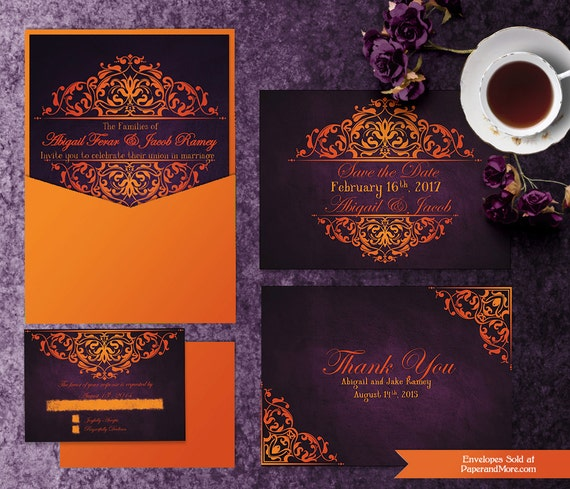 printable halloween wedding invitation templates invitation etsy