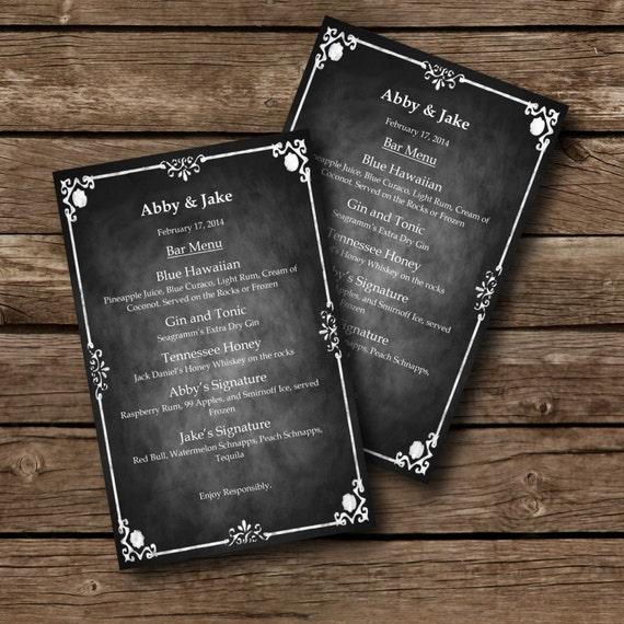 word document menu template