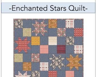 Enchanted Stars Quilt PDF Pattern