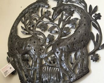 Haitian handcrafted Metal Wall Art