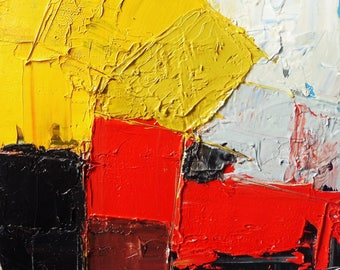 RED COAST 2017. Original Abstract Landscape Oil Painting.