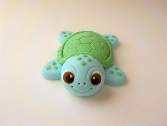 Cool Fondant Sea Turtle Cake Topper 1St Birthday Baby Shower Color Etsy Personalised Birthday Cards Veneteletsinfo