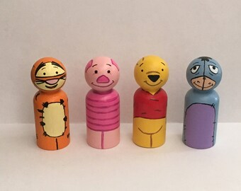 Winnie the Pooh Peg Dolls, Wooden Dolls