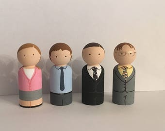 The Office peg doll set