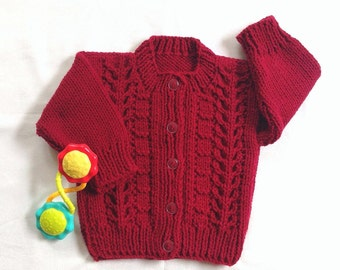 8a1cce26e Red baby sweater