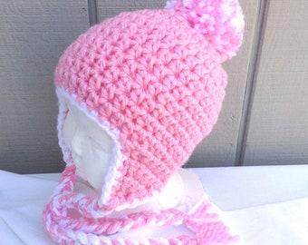 1d4ab6c93 Girls ear flap hat | Etsy