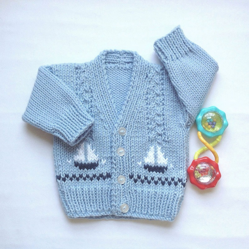 a7540bf8f09e Baby boy cardigan 0 to 6 months boy Baby hand knit sweater
