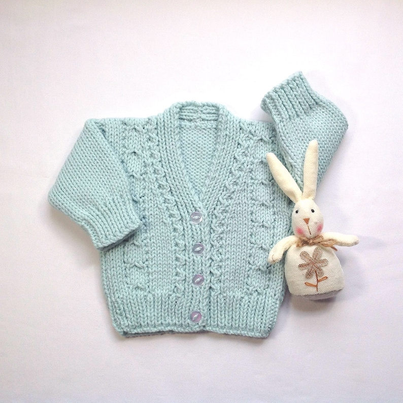 cc6f6d9c33a8 Baby knitwear 0 to 6 months baby cardigan Mint green baby