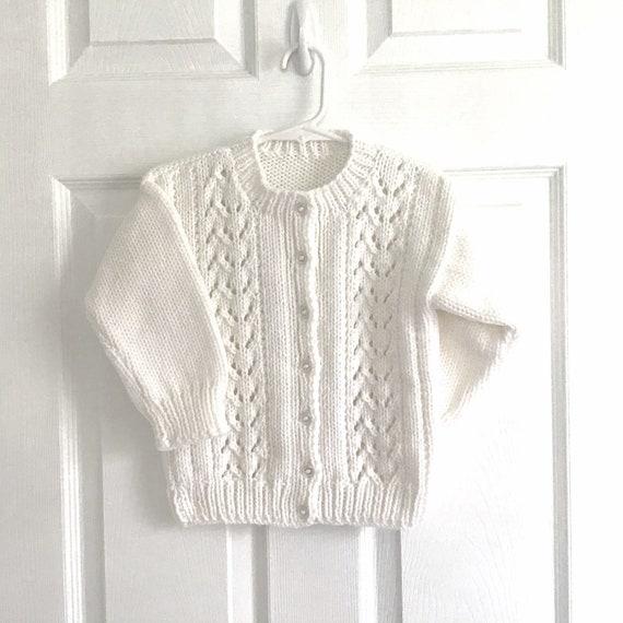 Girls Knitted white Cardigan