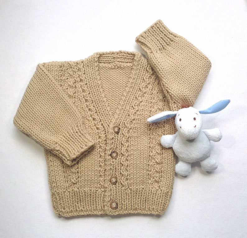143cba134 Infant cardigan 6 to 12 months Baby hand knit sweater