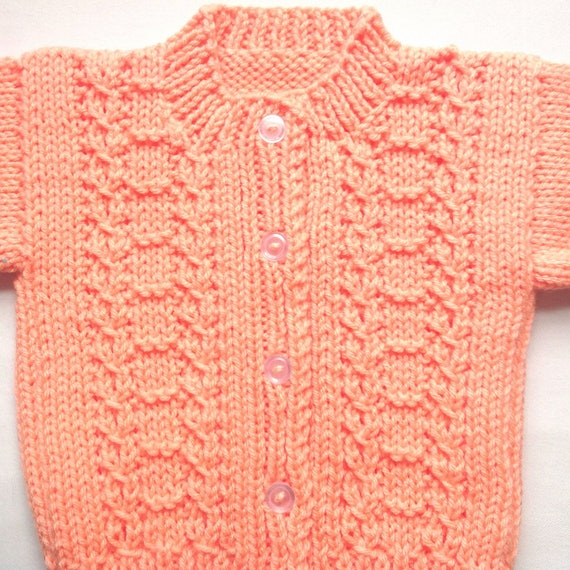 ecf2969b8e94 Baby girl sweater 6 to 12 months Baby girls peach sweater