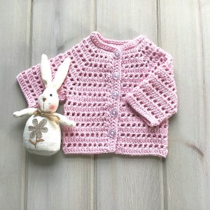 Baby coat pink cardigan with star baby girl knitted jacket pink and gray birthday gift baby shower gift christmas gift all seasons