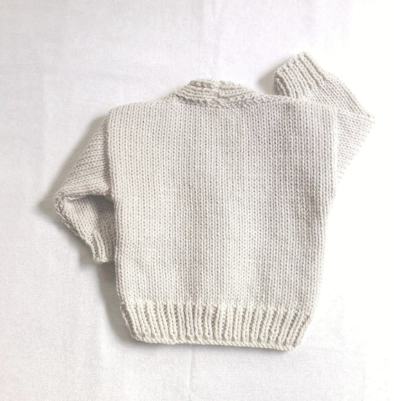 Infantil Aran cardigan 6 a 12 meses bebé Aran punto suéter | Etsy