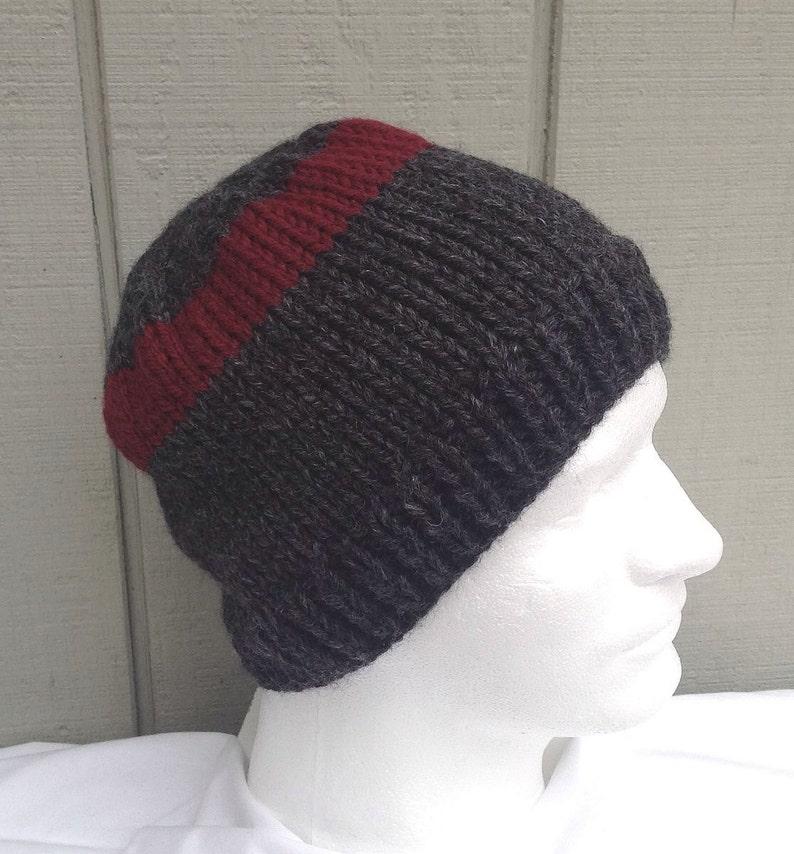 74f3b858ace1d Mens handknit wool mix beanie Teens knit beanie Mens hand