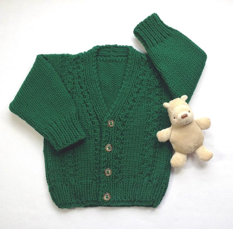 2316ba806 Irish knit baby cardigan 6 to 12 months Baby kelly green