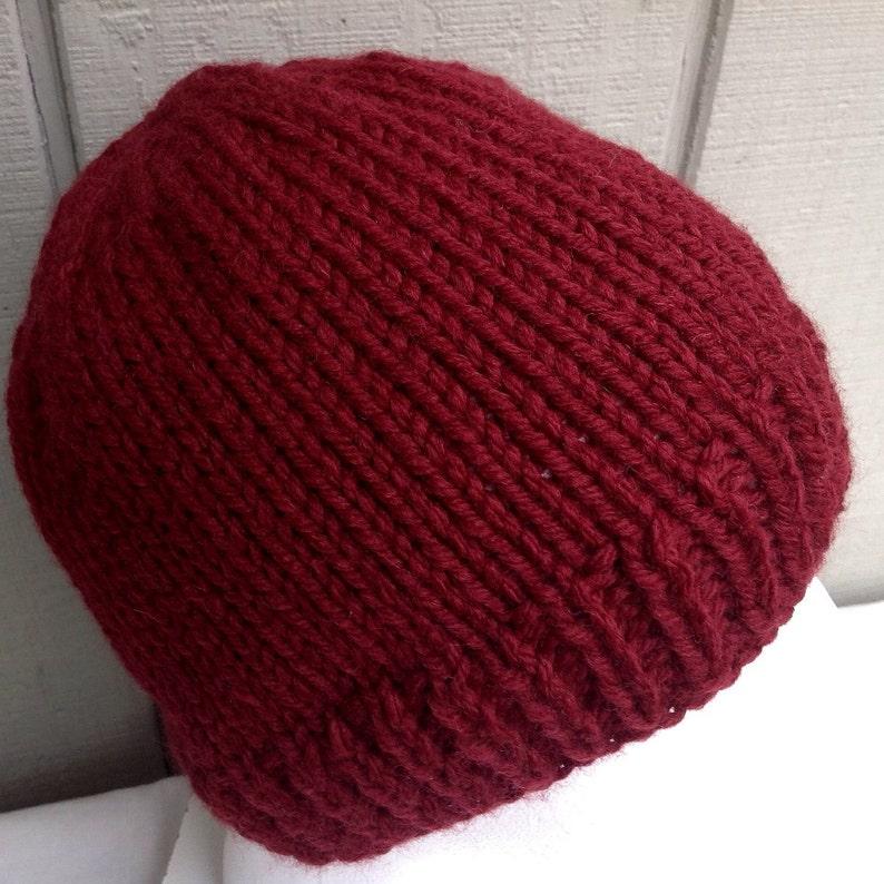 1d6d414a73fd8 Mens wool mix beanie Hand knit Mens hat Teen boys wool