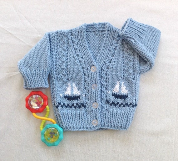 cbe1f61a2 Baby sailboat cardigan Baby boy sweater with sailboats 6