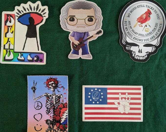 Grateful Dead Stickers Set of 5