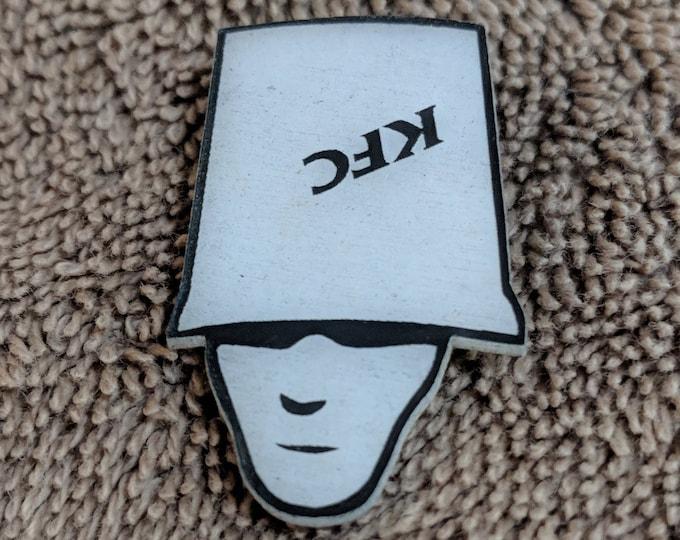 Bucket Head Glow Hat Pin