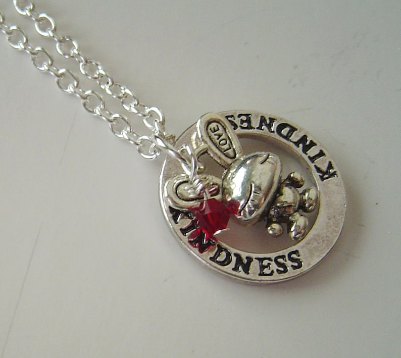 Kindness Massage Washer and Bunny Personalized Necklace Birthday and Graduation Gift kindness is my nature I/'m a nice bunny; vegetarian