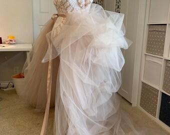 1fccd10466 Nude tulle skirt maternity skirt maternity photo shoot dress tulle skirt wedding  dress maternity wedding baby shower dress nude tulle skirt