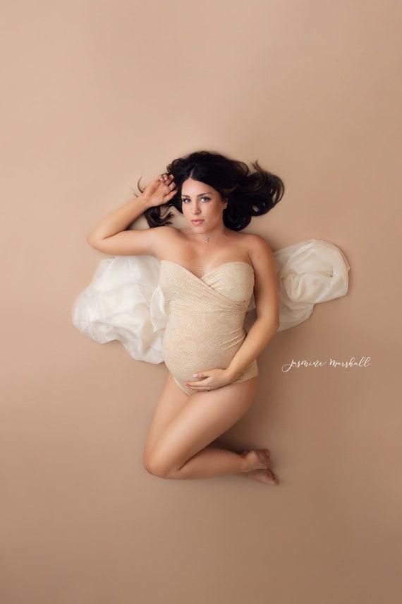 Maternity bodysuitmaternity onesieMaternity Photo PropsBoudoir photo shootMaternity dressbaby shower gift bohemianred