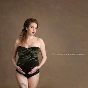 Maternity bodysuitMaternity Photo shoot dressBoudoir photoonesiechampagnelace bodysuitsbohemian