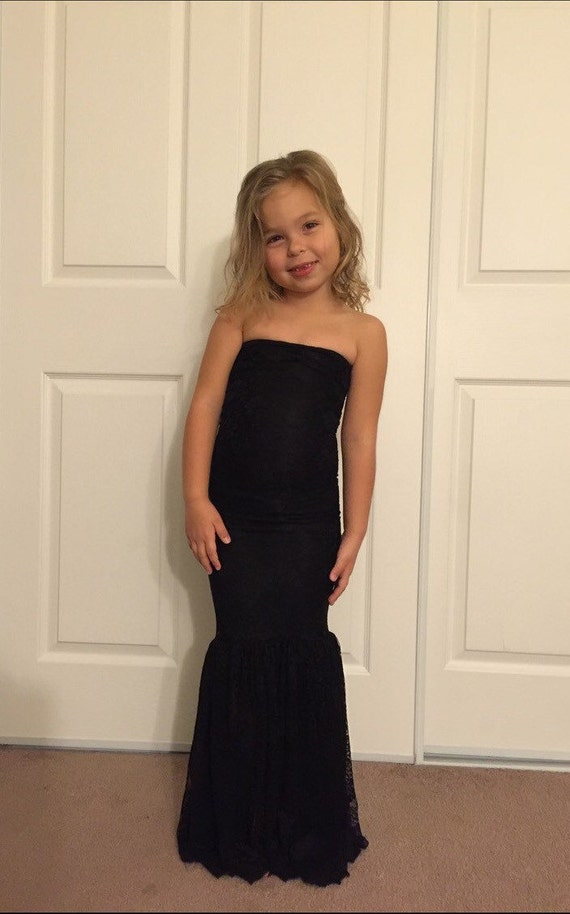 Black Girl Lace Mermaid Dress Children Lace Gown Girl Gown Etsy