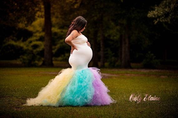 Maternity dressTulle Maternity Gownmermaid Maternity DressMaternity photo shoot dressBaby shower dressfitted maternityburgundy