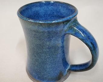 Blue mug - pottery mug - handmade - coffee mug - coffee cup - local - lake life -