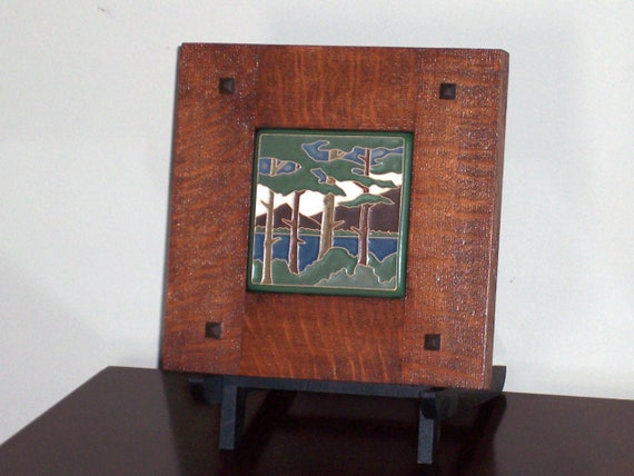 Framed Arts And Crafts Tile Mission Style Frame Lake Tahoe Etsy