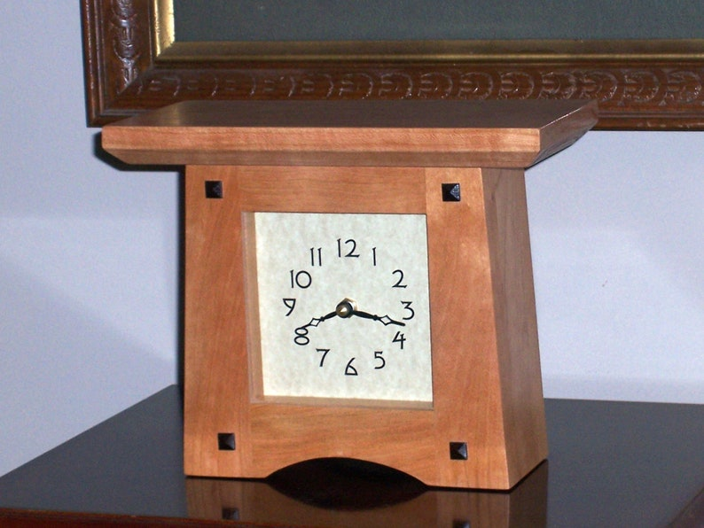 Handcrafted Cherry Mantle Clock