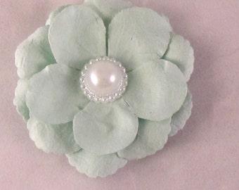 Large Flower Lapel Pin - Mint Green - Men's Accessories- Everyday/Weddings/Proms