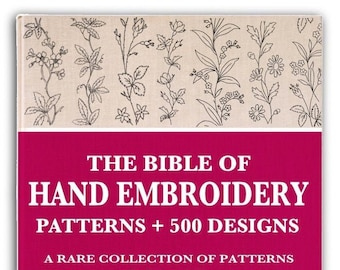 Rare 500 Designs HAND EMBROIDERY PATTERNS Book for Crafting Beginners and Experts This Printable Pdf book is an Instant Digital Download