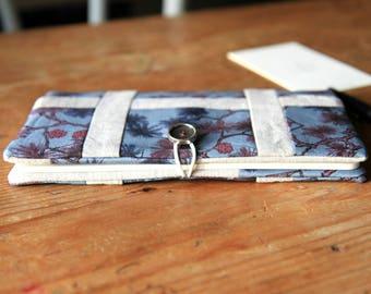 Cahier Moleskine couverture en lin et Liberty, Carnet avec couverture en patchwork, Carnet Moleskine, Cadeau pour femme, Agenda