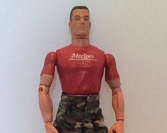 GI Joe 1996 Action Figure GI JOE 1996 military action figure retro orange barbie couch Barbie Ken pajamas handmade plaid pajamas Hasbro