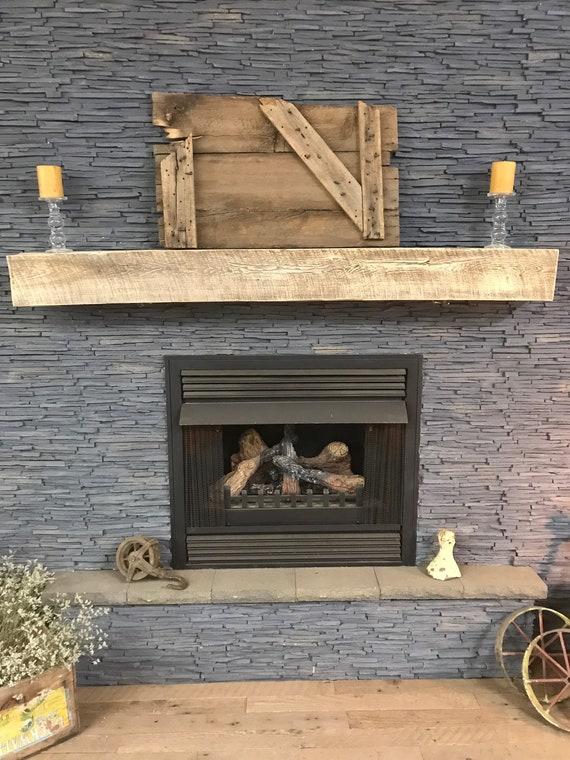 Reclaimed Beam Fireplace Mantel Barn Beam Mantle 70 x | Etsy