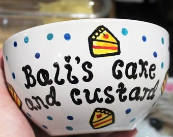 Personalised bowl, personalised gifts, gifts for all, cake lovers, Christmas gifts