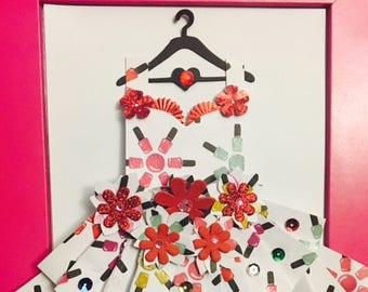 Nail Love Enchanted Paper Dress.
