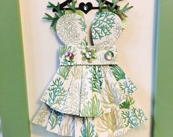 Sea Coral Enchanted Paper Dress!!