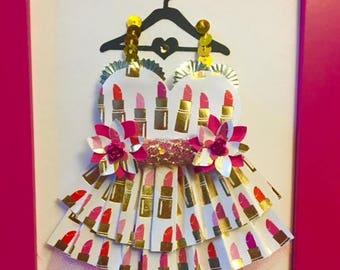 Lipstick Enchanted Paper Dress!