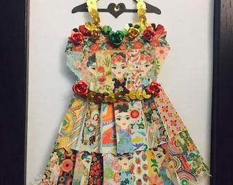 Frida Kahlo Enchanted Paper Dress!