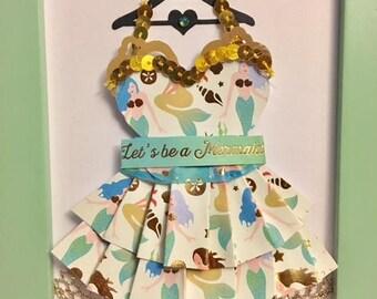Enchanted Mermaid Paper Dress
