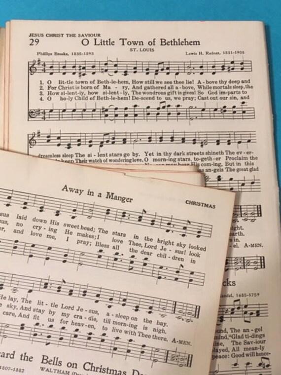 Christmas Hymns.Vintage Christmas Hymns Lot 10 Real Popular Christmas Hymns Vintage Christmas Ephemera Lot