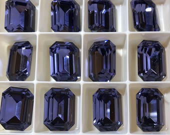 1 piece 4610 Tanzanite 18mm x 13mm Swarovski Crystal